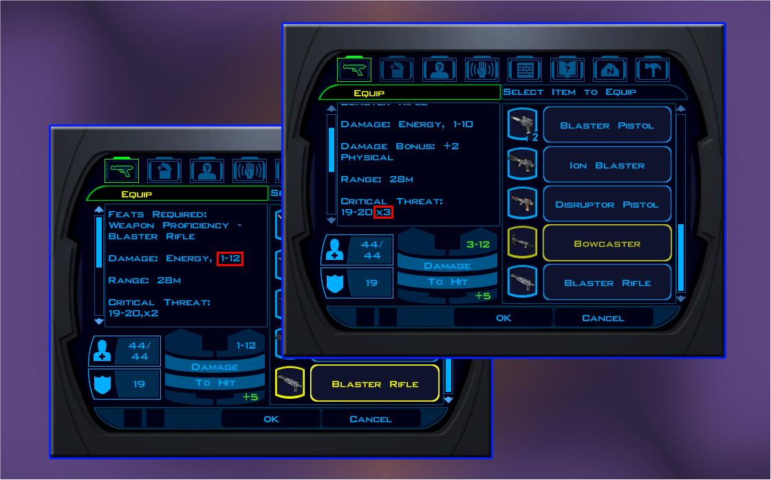 Weapon Base Stats Re-balance (K1)