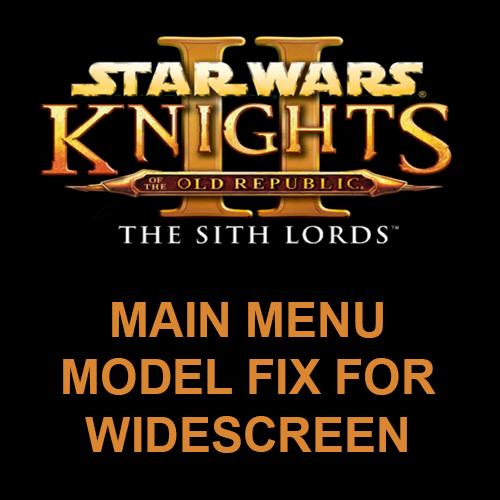 TSL Main Menu Model Fix for Widescreen