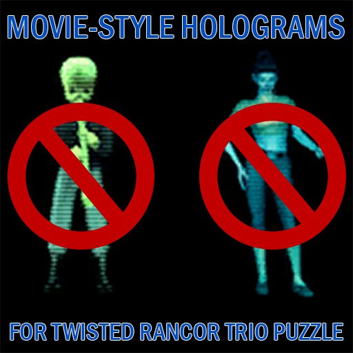 Movie-Style Holograms For Twisted Rancor Trio Puzzle