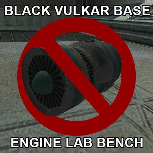Black Vulkar Base Engine Lab Bench For Swoop Accelerator