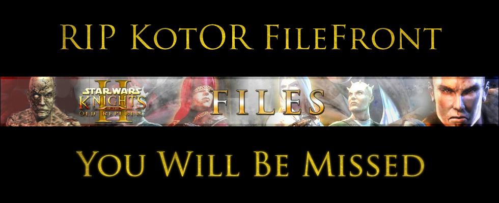 RIP KotOR FileFront