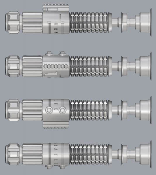 Obi-Wan ANH Lightsaber CAD Model 02