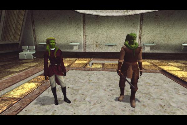 Jedi Knights: Master Tar'eelok and Garrum the Apprentice