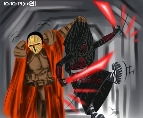 Revan's duel with Mandalore