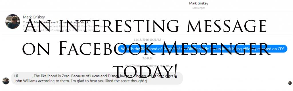 Blog #63 - Got an interesting message on Facebook Messenger today!