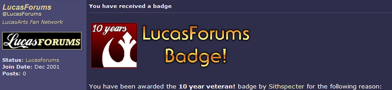 Blog #34 - LucasForums Badge